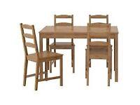 Ikea Jokkmokk antique stain dining table