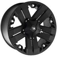 "BRAND NEW 20"" VROCK OFF ROAD WHEELS!!! FLAT BLACK."