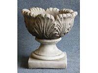 Wanted large Stone/Concrete Tulip Planters