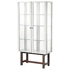 Glass double door display cabinet