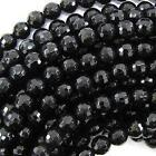 Faceted Black Onyx Beads