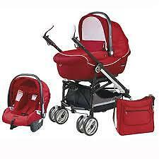 Italian Peg-Perego Switch Compact Stroller+car seat +base-