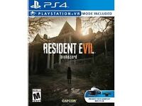 playstation 4 game Resident evil 7 biohazzard