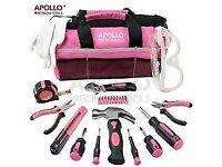 Apollo 22 Piece Pink Home Tool Kit