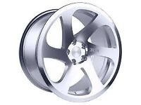 18 inch 3SDM 0.06 ALLOY WHEELS INCL CONTISPORT CONTACT3 TYRES SILVER/POLISH FITS VW AUDI SEAT SKODA