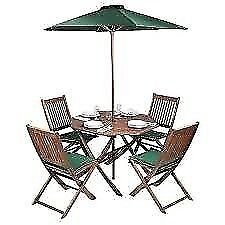Folding wooden garden table and 4 chairs (like NEW) £40 OFFERS WELCOME - garden furniture