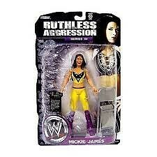 MICKIE JAMES RUTHLESS AGGRESSION 34 WWE JAKKS WRESTLING ACTION FIGURE TOY
