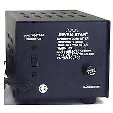 Seven Star 500 watt 120/220 volt transformer