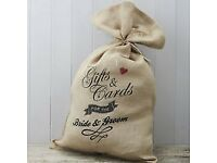Gifts and Cards Hessian Sack for the BRIDE AND GROOM