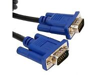 Quality UK VGA cable for TVs,PCs,monitors,printers or all other VGA devices at only £5 or 3 for £10