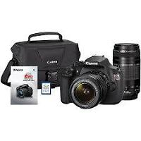 CANON T5 WITH 18-55 AND 75-300 WITH BAG WARRANTY