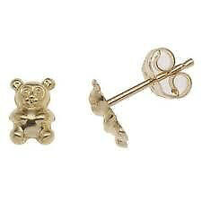 Perfect Gift -Brand new 18 K Yellow Gold Teddy Bear Baby earings