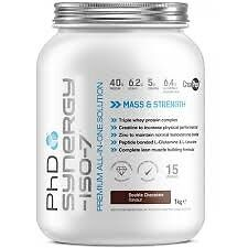 PhD Synergy - ISO -7 Double Chocolate Flavour 2kg - NEW - £20