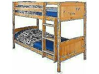🎄LOWEST PRICE ON INTERNET🎄WOODEN Bunk Bed with 2 MEMORY MATTRESSES 🎄SINGLE BUNK BED