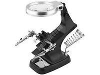 Desktop Magnifier with LED Light - Black