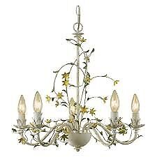 Lovely chandelier metal candle lighting in cream colour x 3 £45 each or 3 for £100