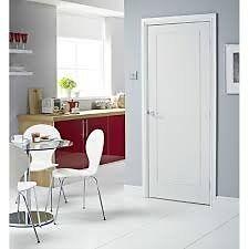 Brand New Premdor Premium 1 Panel Moulded FD30 Interior Door (46211)