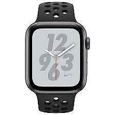 Apple Watch Series 4 ( GPS Only + 44 mm ) space grey  Aluminium case anthracite/Black Nike sports band.