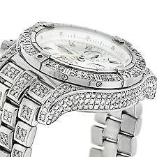 piece shine bling watch ice shiny gold watches bhp ebay mens iced fully out diamond time