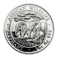 2013 Somali Elephant Silver Coins