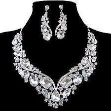 Swarovski Clear Crystal Jewelry Set 1d8997274