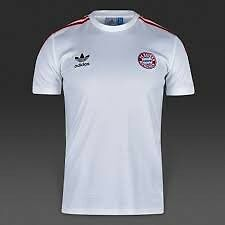 Adidas Mens Bayern Munich FC 1981 Away Jersey T-Shirt - Red (Size S) (BNWT)