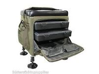 Superb Fishing Seat Box with two internal trays and external pockets