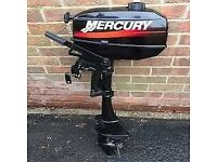 2006 MODEL MERCURY 3.3HP 2 STROKE OUTBOARD ENGINE / V.VGC / £165 WORTH OF EXTRAS / ALL DOCS INCLUDED