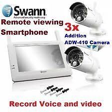 ADW-410 - Digital Wireless Security and 4 Cameras Complete Kit Beechboro Swan Area Preview