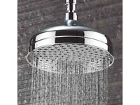 brand new Belgravia chrome Crosswater Shower head 200mm