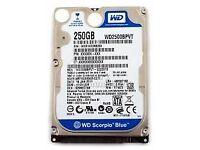 Western Digital 250GB Sata Laptop HDD