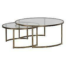 Nicklas 2 Piece Glass Coffee Table Set NEW ** 5 CORNERS FURNITURE **