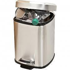NEW  stainless steel Square Step Garbage Recycling Can Large 6 Liters  SMALL
