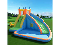 Brand new inflatable bouncy castle with water slide and rock climbing wall.