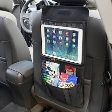 TABLET HOLDER FOR BACK OF CAR SEAT WITH ORGANISER