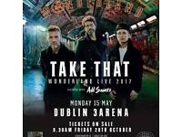 take that standing tickets dublin may 15 (less than face value)
