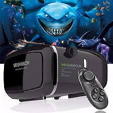 VR Shinecon 3D VR Virtual Reality Glasses WITH REMOTE BLUETOOTH Headset not headphones
