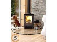 £1239 FITTED!!! Purefire Curve 5kw Woodburner, Wood Burning Stove, Multifuel Log Burner