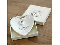 'To have and to hold' heart ring dish in a box £5