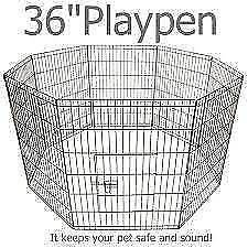 36' 92cmH 8panel Dog Playpen penCage Crate Enclosure Rabbit fence Oakleigh Monash Area Preview