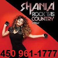 SHANIA TWAIN : SECTIONS ROUGE ET PARTERRE !!!