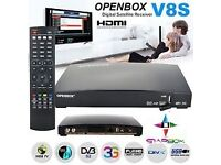 HD IPTV RECEIVER BOX ☆OPENBOX V 8 S / M9S HD TV IPTV ☆£80 - 12 MTHS COLLECTION☆