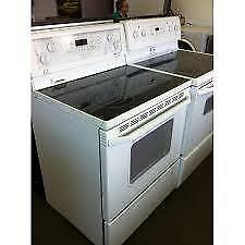 Fully Reconditioned SMOOTH TOP WHITE STOVE   $450 with WARRANTY -  Delivery Available (Extra Charge)  - 9267 - 50 Street