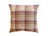 Pair of Tweed Woven Cushions and matching Throw - Dunelm