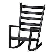 Ikea VÄRMDÖ Indoor/Outdoor Black Pine Rocking Chair