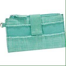 Thirty-One Retro Metro Wallet, Turquoise Cross Pop