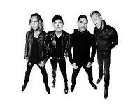 2 metallica tickets for Birmingham Mon 30 Oct 2017