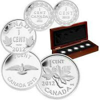 RCM Fine Silver 5 Coin Set - Farewell to the Penny (2012)