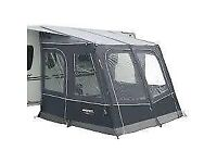 Varkala 280 Airbeam. Excellent extra wide porch awning. In vgc with poles pegs and pump. Changed van