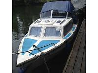 Arran 17 Cabin Cruiser boat, London area, quick sale needed